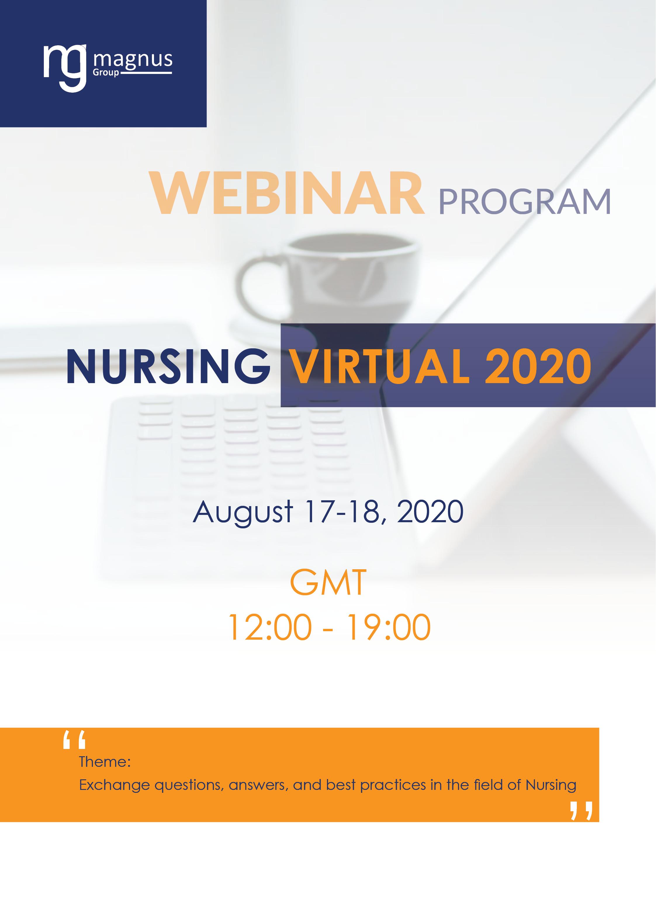 2nd Edition of International Webinar on Nursing | Online Event Program