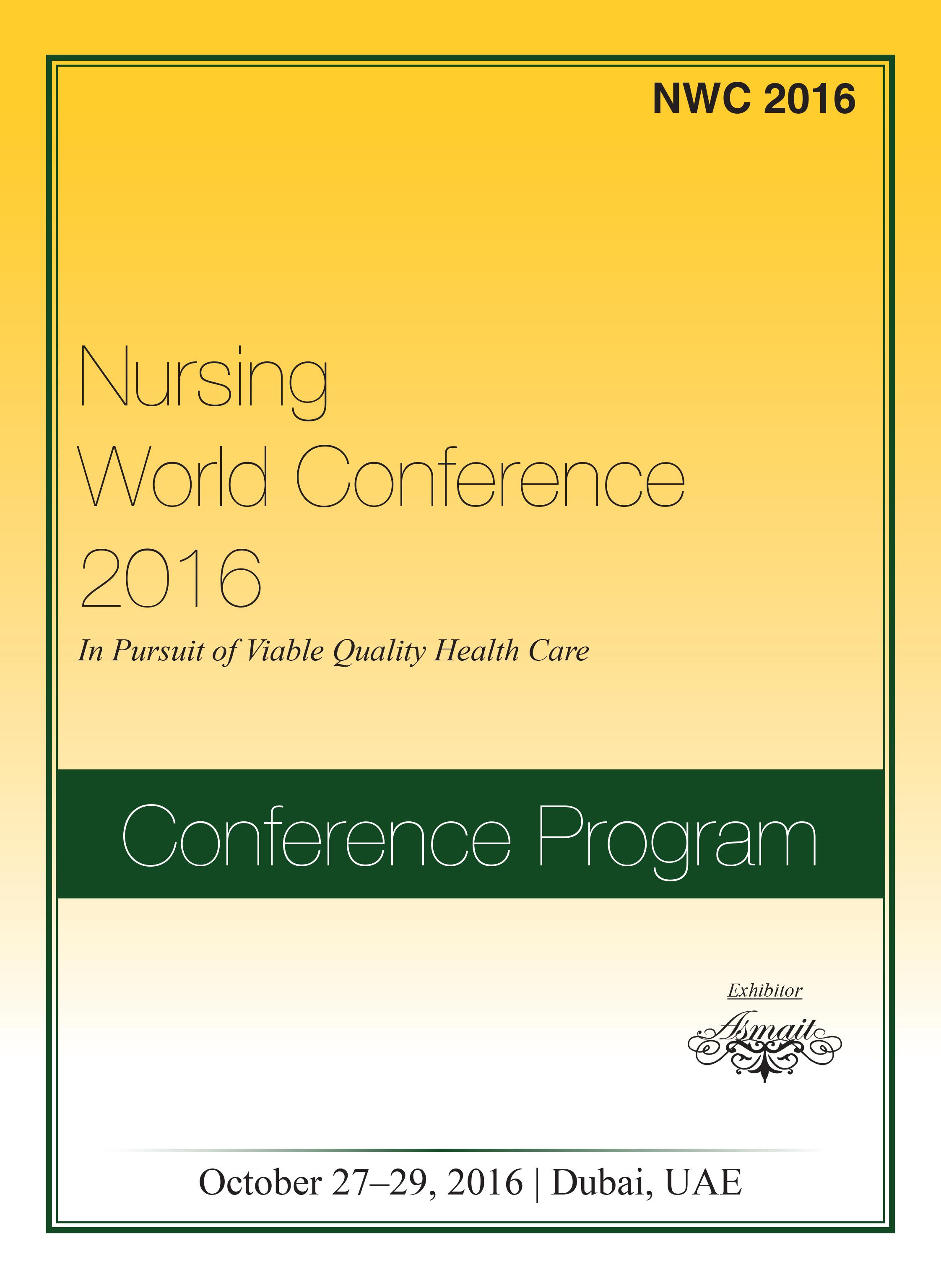 Nursing World Conference | Dubai, UAE Program